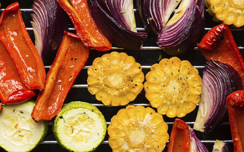 Vegetables on the grill, side alternatives, good food, healthy options
