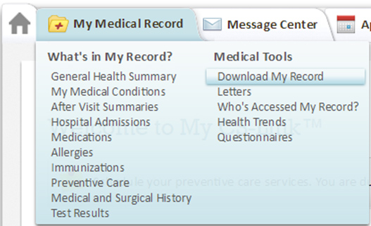 Download Medical Records on My CS-Link | Cedars-Sinai