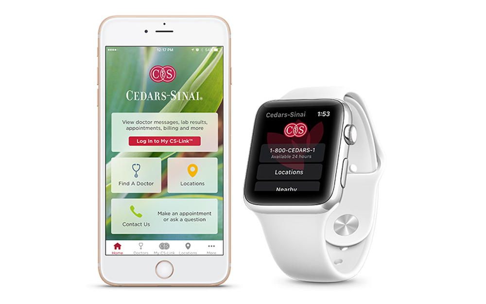 app, Apple watch, Cedars-Sinai, tech, appointments