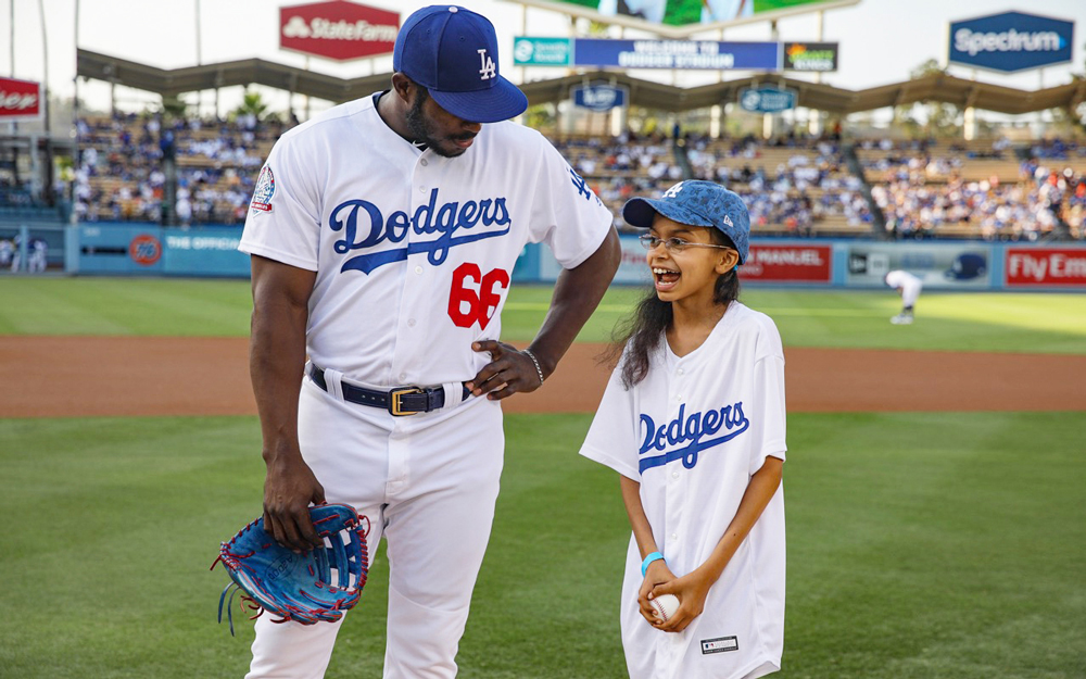 #LittleDodgerFan Alika Throws Out First Pitch teaser image