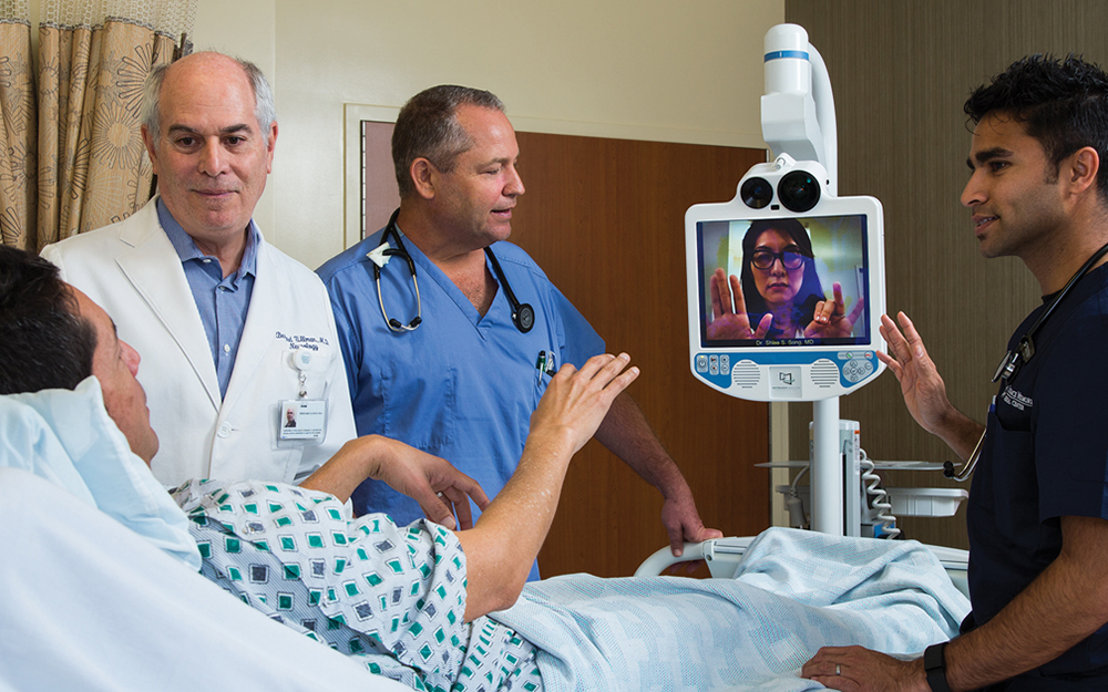 Cedars-Sinai doctors use telestroke technology to treat strokes teaser image