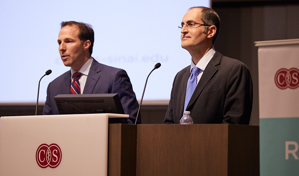 Dr. Jeffrey Wertheimer and Dr. Arash Asher presenting the latest research on the GRACE Program (Growing Resiliency And Courage with Cancer) to cancer patients and survivors at the Patient Empowerment: Growing Resiliency and Courage conference organized by the Research Center for Health Equity, in collaboration with Susan G. Komen Los Angeles County. (2019)