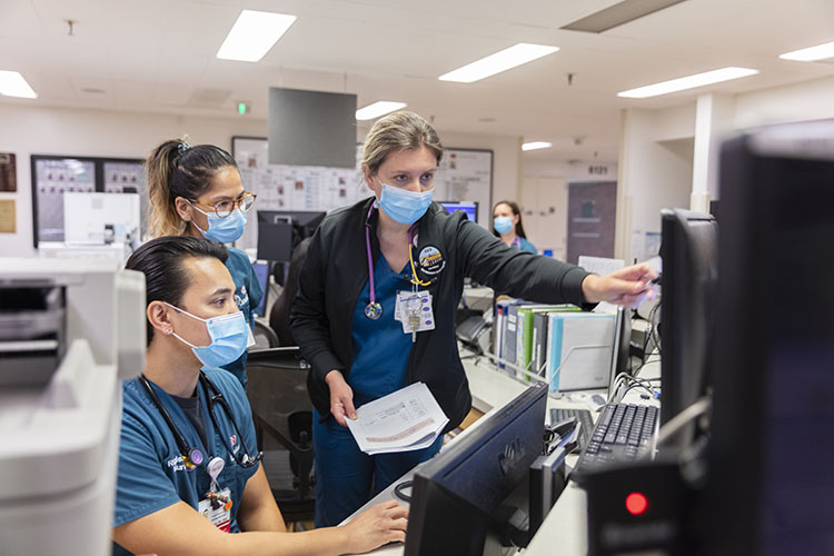 Doctors at Cedars-Sinai working at the frontline of the COVID-19 pandemic.