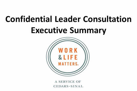 Confidential Leader Consultation | Cedars-Sinai